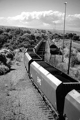 Aberthaw 33692bw (kgvuk) Tags: trains locomotive railways aberthaw class66 ews diesellocomotive 66199 66121 dbschenker valeofglamorganline