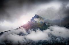 Bergspitze (nicoheinrich86) Tags: light sunset sky mountain berg clouds lenseflare austria licht sterreich europa europe sony himmel wolken 2016 bergspitze hx400v