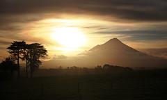 winter filter (Paul J's) Tags: sunset mountain landscape volcano taranaki mttaranaki neillroad