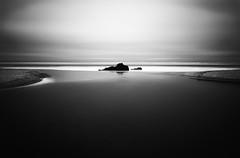 creek rock ano nuevo beach (hbphototeach) Tags: ocean sunset white black beach coast san long exposure pacific simplicity approved minimalism mateo ano nuevo