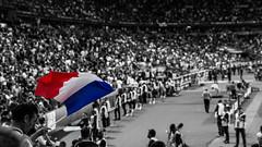 Allons enfants de la patrie... (Mich2956) Tags: paris france foot drapeau selectivecolor stadedefrance tricolore couleurslective euro2016