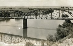 [IDAHO-B-0168] Snake River - Payette (waterarchives) Tags: idaho snakeriver river bridge payette realphotopostcardrppc