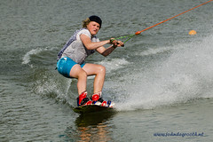 High speed wakeboarding (1) (John de Grooth) Tags: spanning ten tension wakeboard wakeboarden highspeed spetterend ermerstrand recreatie watersport