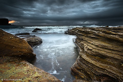 Overcast Morning (renatonovi1) Tags: overcast storm morning sunrise clouds sea ocean water beach rocks wave swell surf avalonbeach sydney nsw australia seascape landscape