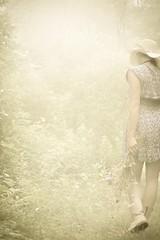 .wanderess. (allyson.marie) Tags: girl woman summer wildflowers fields self portrait landscape nature fkowers sunset sun