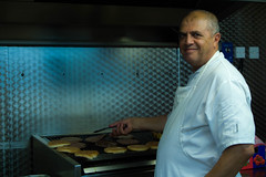 Chef (Kimberley Hoyles) Tags: portrait man kitchen beautiful composition cool beef burger cook sandwich beaty grill chef smil stunning colourful nikond3200 coloure coloures