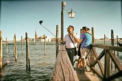High Tech Voyeur (Steve Lundqvist) Tags: china venice sea italy church pier kiss italia open phone outdoor chinese tourist traveller venezia isle selfie