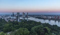 Full moon over Rotterdam (mark @ teamup) Tags: moon rotterdam fullmoon euromast rotterdamthenetherlands euromastrotterdam