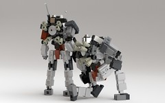 Lancer and Lancer-S (KANICHUGA) Tags: lego military mecha mech moc