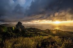 Sunrise (Marco.Alagna) Tags: ocean mountain fiji sunrise island gold nuvola cloudy alba peak cielo montagna paesaggio
