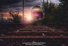 Beautiful abandoned Train (Marcus Klepper - Berliner1017) Tags: sunset berlin abandoned train ddr gdr lostplace vt1816 bahnhoflichtenberg