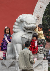 Children in a Beijing Park (Oleg S .) Tags: beijing china travel architecture child chinesearchitecture people sculpture