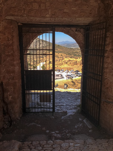 View out of the first gate, Acrocorinth
