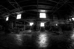 IMG_4757.JPG (Jamie Smed) Tags: iphoneedit handyphoto jamiesmed app snapseed september lens fisheye prime fixed wide angle focus 2014 hdr blackwhite bw blackandwhite rokinon manual canon eos dslr 500d t1i rebel photography warehouse geotag geotagged industrial