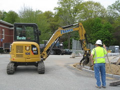09 Curb being installed (chelmsfordpubliclibrary) Tags: cpl chelmsford chelmsfordpubliclibrary chelmsfordlibrary greenway