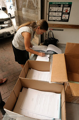 Packing Signature Boxes (Greenpeace USA 2016) Tags: colorado ban fracking petition truck delivery fossilfuel oil gas denver coalition