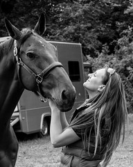 Mutual Appreciation (jeffallsebrook) Tags: horses equine equestrian bw mono monochrome canon
