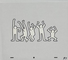 Keith Haring Sesame Street breakdancers animation cel 1987, 01 (Tom Simpson) Tags: keithharing sesamestreet 1987 1980s vintage animation cartoons dance dancer breakdancing breakdancer television