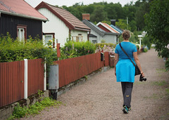 Doll-houses village_c (gnarlydog) Tags: sweden houses village path cosmicar50mmf14 swirly bokeh adaptedlens
