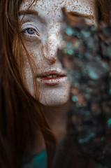 . (Laura Callsen) Tags: lovely girl freckles redhead wood ginger intense look beauty vsco vintage