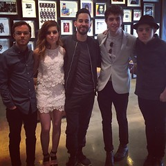 Hanging with @echosmith today.  Come to @rockinriousa May 8/9 and 15/16 and support @musicforrelief ! (the_real_mike_shinoda) Tags: square squareformat hudson iphoneography instagramapp uploaded:by=instagram