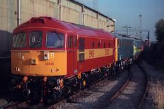 33030, Crewe, August 28th 1998 (Southsea_Matt) Tags: train railway crewe crompton ews diesellocomotive class33 33030 brcw d6548
