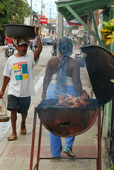 Sunday is BBQ day (Basse911) Tags: street people chicken dominicanrepublic bbq grill republicadominicana lasterrenas calleduarte