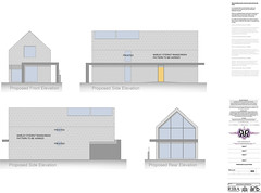 Latest design for infill property to be constructed in SIPS panels.