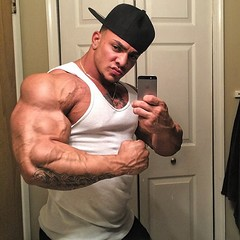Tristan muscle posing (luvbigmuscles2011) Tags: pecs worship muscle muscular bull huge beast bodybuilder biceps comparison abs quads veiny