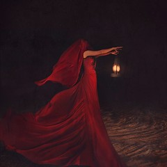 following ideas (brookeshaden) Tags: selfportrait fairytale darkness zombie surrealism brooke mysterious lantern masked reddress whimsical fineartphotography darkart flowingfabric shaden