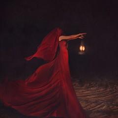 following ideas (brookeshaden) Tags: selfportrait fairytale darkness zombie surrealism brooke mysterious lantern masked reddress whimsical fineartphotography darkart flowingfabric shaden