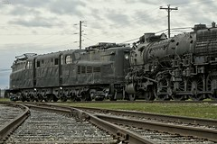 US-PA Strasburg - RR Museum Yard 2014-11-01 (N-Blueion) Tags: railroad train engine steam locomotive railroadmuseum
