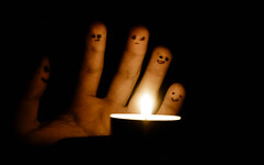 Around the fire (mihibalu) Tags: friends art canon fire eos candle hand faces bored like follow dslr d550