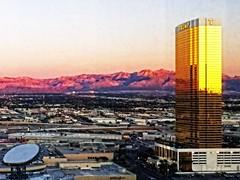Trump (DASEye) Tags: tower sunrise gold dawn hotel lasvegas trumptower donaldtrump trump glasstower iphone davidadamson daseye