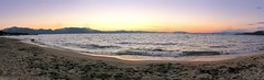 Lake Tahoe Sunset Pano (Joe Lach) Tags: california sunset mountain lake beach water sand laketahoe alpine sierranevada southlaketahoe joelach