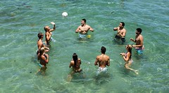 Tap (Andy Arecco) Tags: ocean ladies playing men swim ball moving hand looking shot arms action air young volleyball trunks tap volley bikinis