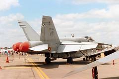 C.15-38 15-25 EF-18A Spanish AF Ala 15 Fairford 21Jul91 (kerrydavidtaylor) Tags: spanishairforce mcdonnelldouglashornet f18 egva ejércitodelaire ejercitodelaire spain espana