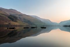 Sunrise at Talyllyn Lake (Explore) (babs pix) Tags: lake wales reflections boats westwales snowdonia gwynedd talyllyn talyllynlake snowdoniamountainsandcoast