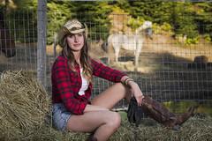 Tiana (wa2wider) Tags: ranch woman sexy girl beautiful beauty nikon cowboy boots farm blond tiana cowgirl nikkor wawa strobe photograher d800 strobist