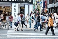 tokyo coming and going (sinkdd) Tags: street blur japan tokyo moving nikon shinjuku 85mm nikkor d800 streetsnap nikond800 f18g afsnikkor85mmf18g