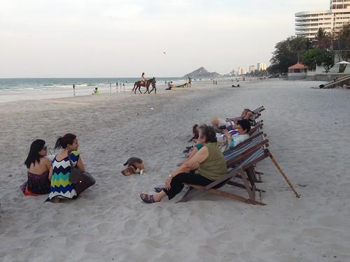 Hua Hin beach #Songkran