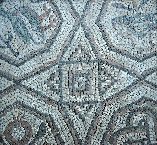 Mosaic floor (6th century AD) of the Church of San Lorenzo Maggiore in Naples
