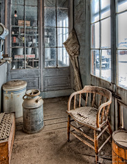 Store Corner (stephencurtin) Tags: california wood corner town milk chair ghost can pot bodie crock thechallengefactory