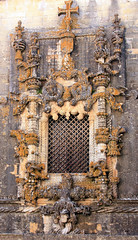 The famous Manuela style window of the Convento de Cristo, Tomar, Portugal (Elena14u2012) Tags: portugal religion monastery manuel fortress tomar conventodecristo templats