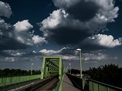 green (kareszzz) Tags: bridge structure wind storm hd budapest sony a200 tamron 18200 photowalk 2016 june contrast colours