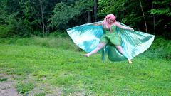 IMG_1651e (ScarletPeaches) Tags: donnav fairy green pinkhair outdoors isiswings pixie