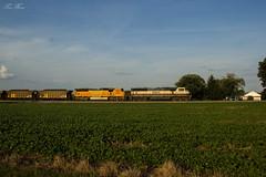 NS 732 at Hall (travisnewman100) Tags: norfolk southern ns 732 train railroad unit coal powder river basin georgia division atlanta north district bnsf emd sd70mac bn executive h2 farm country rural afternoon