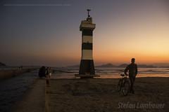Santos sunset (Stefan Lambauer) Tags: sunset pordosol brazil praia beach brasil br sopaulo santos farol catharina 2016 canal6 stefanlambauer