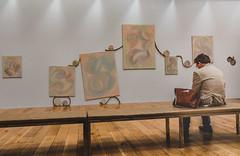 Yelena Popova Exhibition (darren.cowley) Tags: yelenapopova exhibition art gallery abstract nottinghamcontemporary afterimage room brown tones