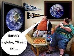 Earth's a globe, TV said so.... (ipressthis) Tags: sun moon cowboys plane tv globe truth flat god earth space yang dome reality bible pepsi curve yinyang yin universe hoax curvature flatearth nocurve